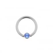 Flat disc smiley ring