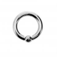 Snap fit ball closure ring