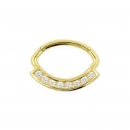 Gouden Daith Clicker - Swarovski Zirconia
