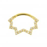 Gouden Daith Clicker - Swarovski Star