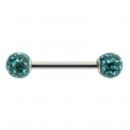 Multi jewelled nipple barbell