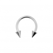 Mini Circular Barbell With Spikes