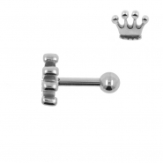 Tragus Helix Barbell Crown