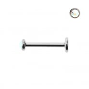 Internally Threaded Mini Labret With Jewelled Disc