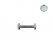 Mini Opal Earstud - Internally Threaded