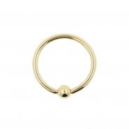 Gold Mini Ball Closure Ring