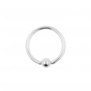 White Gold Mini Ball Closure Ring