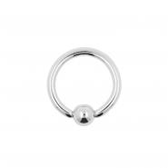White Gold Ball Closure Ring