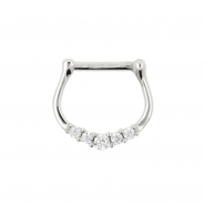 White Gold Septum Clicker