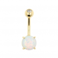 Gold Opal Belly Ring