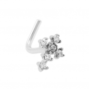 Gold Nosestud - Zirconia Cross