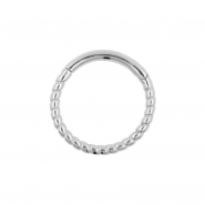 White Gold Braided Click Ring