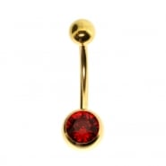 Jewelled belly ring