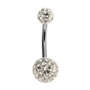 Multi Jewelled Belly Ring