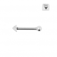 Internally Threaded Tragus Barbell - Stud