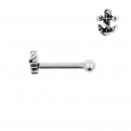 Internally Threaded Tragus Barbell - Anchor