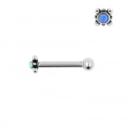 Internally Threaded Tragus Barbell - Opal Square