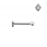 Internally Threaded Tragus Barbell - Diamond