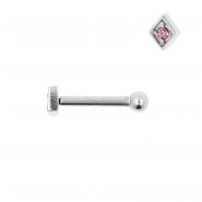 Internally Threaded Tragus Barbell - Diamond