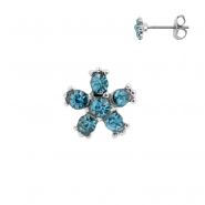 Earstuds - Zirconia Flower