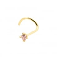 Gold Nosestud With Prong Set Zirconia