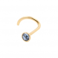 18 Karaats gouden nosestud met kristal