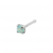Prong-set Opal Nosebone