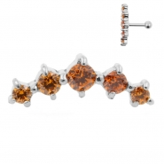 Helix Barbell with Five Swarovski™ Gems