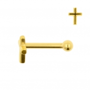 Internally Threaded Tragus Barbell - Cross