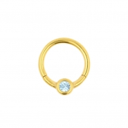 Jewelled Smiley Click Ring