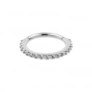 Helix Click Ring With Swarovski Gems