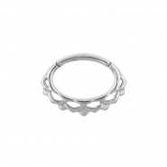 Septum & Daith Click Ring - Small Lotus