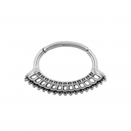 Septum & Daith Click Ring - Vintage Dots