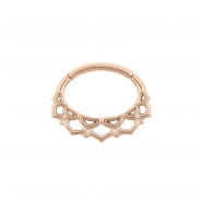 Septum & Daith Click Ring - Ornamental Lotus