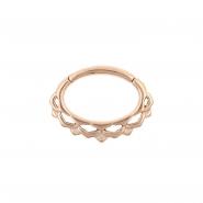 Septum & Daith Click Ring - Small Lotus