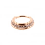 Jewelled Triple Click Ring Stacked
