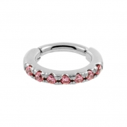 Jewelled Rook Piercing Oval Click Ring