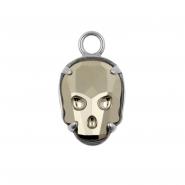 Click Ring Charm - Crystal Skull