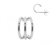 Ear Studs - Triple Hoop