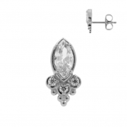 Ear Studs with Marquise Zirconia and Trinity Dots