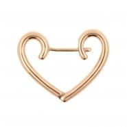 Click Hoop Earrings - Heart