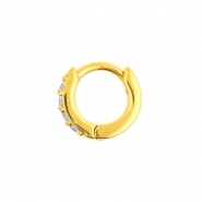 Click Hoop Earrings - Zirconia