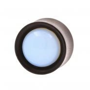 Stone Inlay Wood Plugs - Ironwood & Opalite