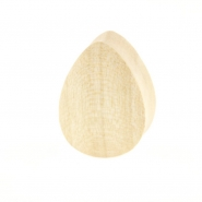 Crocodile Wood Teardrop Plug - Domed