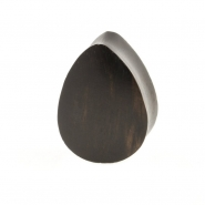 Areng Wood Teardrop Plug - Domed