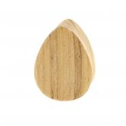 Teak Wood Teardrop Plug - Flat