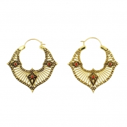 Brass Hoops - Opal Rays