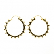 Brass Hoops - Triple Dots