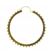 Brass Hoops - Mille Dots