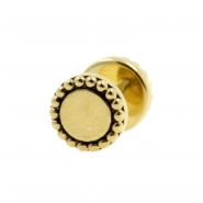 Brass Fake Plugs - Dots